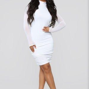 Fashionova White Mesh Dress 1X
